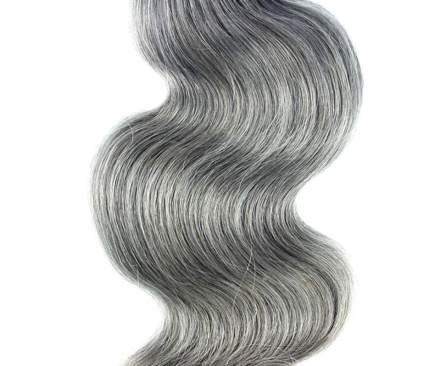 Brazilian Gray Body Wave Hair Extension